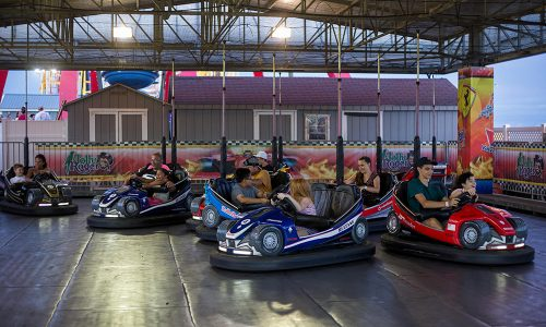 bumper cars at the Pier