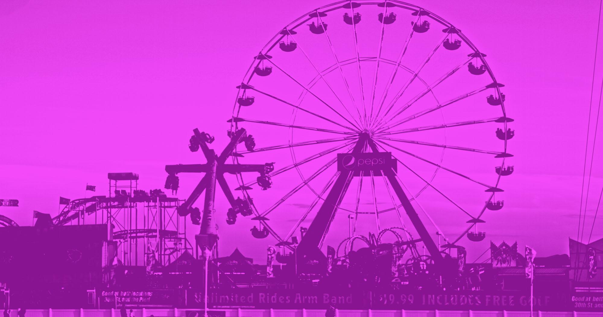 Jolly Roger at the Pier Ferris Wheel